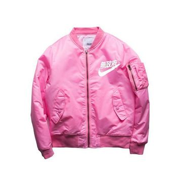 2017 Spring Hip Hop Street Kanye West Yeezus Ma1 Pink Bomber Jacket Homme Season 3 Air Force One Fbi Jacket Men