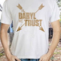 In daryl we trust zobies tshirt Daryl Dixon The WALKING DEAD Zombie T-shirt Runner Workout