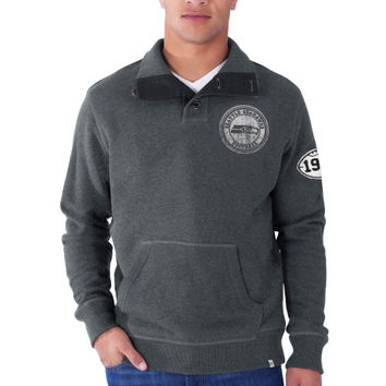 Seattle Seahawks '47 Brand Hanover 1/4 Button Pullover Sweatshirt – Charcoal