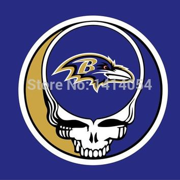 Baltimore Ravens Stealing Your Face Flag 150X90CM Banner 100D Polyester flag brass grommets 001, free shipping