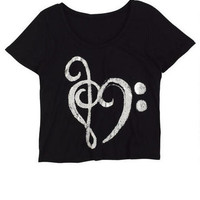 Music Note Heart Tee