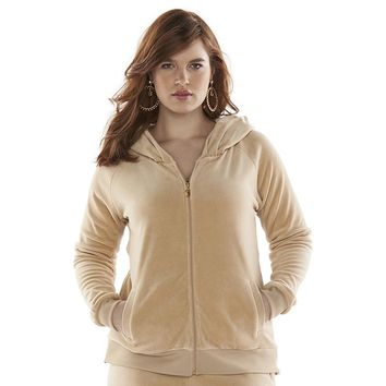 Juicy Couture Velour Hoodie - Women's Plus Size, Size: