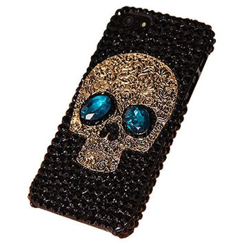 Sparkling Rhinestone Skull Face iPhone Cover