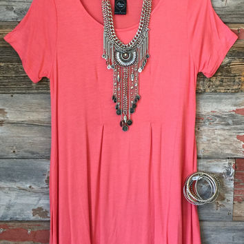 Pleat Tee Shirt Tunic