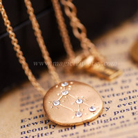 Constellation necklace, Zodiac Sign Constellation necklace Libra-Zodiac Constellation necklace pisces -Zodiac Constellation Charm