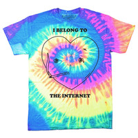 I Belong To The Internet Tie Dye T-Shirt (Neon)