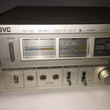 JVC KD-A66 Stereo Cassette Deck Super ANRS Vintage 70's Made In Japan Metal Tape