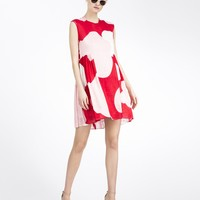 Cynthia Rowley - Sheer Floral Side Gathered Dress