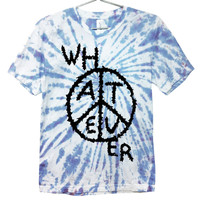 Whatever Peace Slime T-shirt | Black on Tie Dye | Killer Condo Apparel