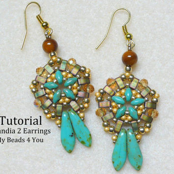 PDF Beaded Earrings Tutorial, Pattern,SuperDuo Tutorial,Seed Bead Earrings,Earring Tutorial,Beading Instructions,Seed Bead Earrings Tutorial