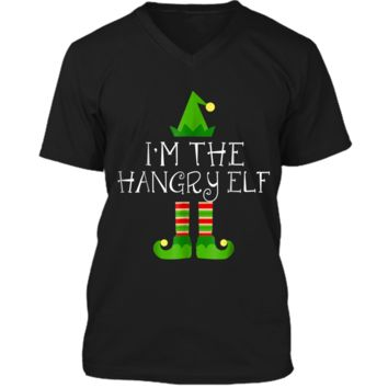 I am The Hangry Elf Matching Family Group Christmas  Mens Printed V-Neck T