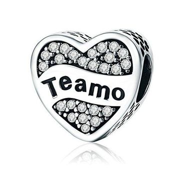 Everbling Love Hearts Lock I Love You 925 Sterling Silver Bead For European Charm Bracelet