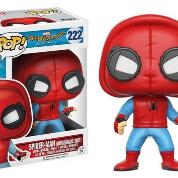 Funko pop Official Spider-Man Homecoming - SpiderMan Homemade Suit Vinyl Action Figure Collectible Model Toy with Original Box