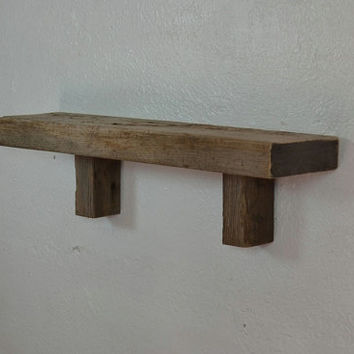 Small rustic wood shelf 19 wide 5 deep