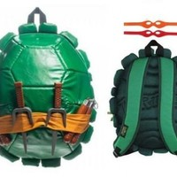 Teenage Mutant Ninja Turtles TMNT Shell Backpack wity Toys Weapons and Masks