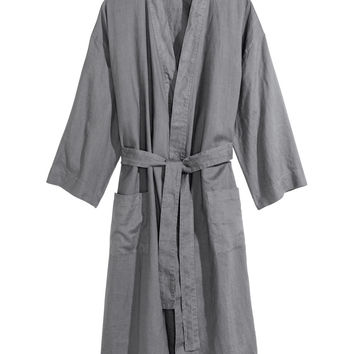 Washed Linen Bathrobe - from H&M