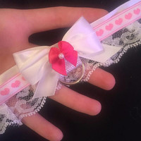 Baby Pink Heart Collar