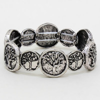 Adorn by Lulu- Rustic Tree Stretch Bracelet