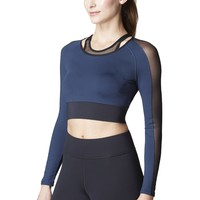 Michi Garnet Top - Blue | Luxury Workout Top