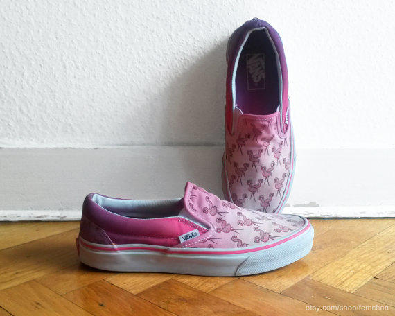 Flamingo Pink Ombre Vans Slip On From Femchan My Products