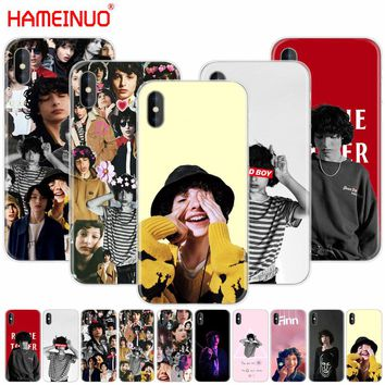 HAMEINUO Finn Wolfhard Stranger Things cell phone Cover case for iphone X 8 7 6 4 4s 5 5s SE 5c 6s plus