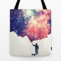 Painting the universe Tote Bag by Badbugs_art