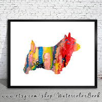 Norwich Terrier 2 dog Watercolor Print, Archival Fine Art Print, Home Decor, Norwich Terrier watercolor, watercolor painting, Terrier art