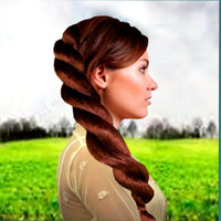 Extra thick Long Twist Braid Hair extension hair accessory hairpiece costume Wig Custom color ponytail fake hair wedding style costumee