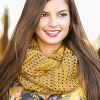 The Night Is Young Infinity Scarf-Mustard