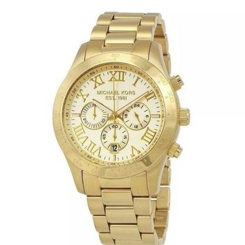 ONETOW Michael Kors Men's Layton MK8214 Gold Stainless-Steel Quartz Dress Watch