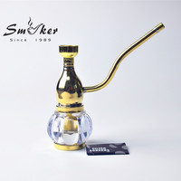 Mini Hookah Metal Smoking Water Pipe With 5 pcs of Screen Glass Pipe Small Shisha