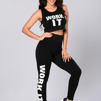 Work It Leggings - Black
