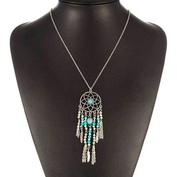Collier Femme Plume Dreamcatcher Native American Fringe Necklace Collier attrape reve Colares Boho Chic Collana Acchiappasogni