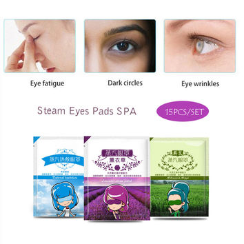 15pcs Bag Eye Care Steam Eye Mask Fragrance Warm Generating Eye Spa Moisturizing Dark Eyes Warmer Patch