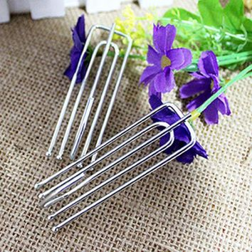 Stainless Steel  Hooks Anti-Rust Curtain Holders