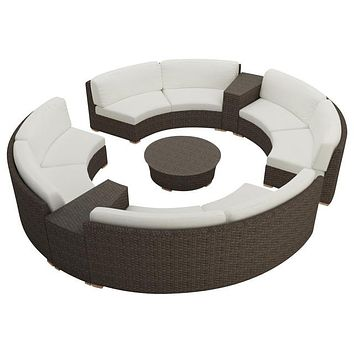 2016 Living Room Furniture Outdoor 7 Piece Furniture Round Sofa Sectional Set