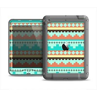 The Teal & Gold Tribal Ethic Geometric Pattern Apple iPad Mini LifeProof Nuud Case Skin Set
