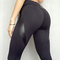 Women's Sporty Legging Solid Colored High Waist