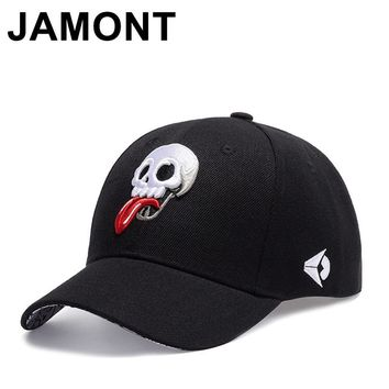 Trendy Winter Jacket Jamont Men Women Funny Skull Embroidery Baseball Cap Casual Adjustable Casquette Golf Hats Curved Visor Hip Hop Snapback Caps AT_92_12