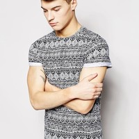 New Look | New Look T-Shirt with Geo-Tribal Print at ASOS