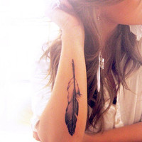Feather Temporary Tattoo | Strepik Apparel