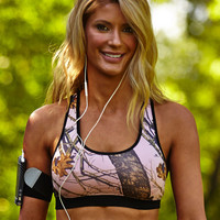 Wilderness Dreams Activewear Women's Camo Sports Bra - Mossy Oak Pink - 610635