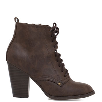 Tasha Booties - Brown
