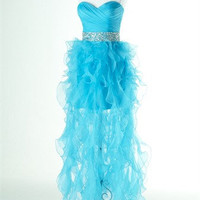 A-line Ball gown Organza Bridesmaid Dress Evening Prom Dress