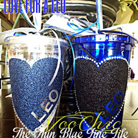 LEO (Law Enforcement Officer) Love CLEAR Spirit Tumblers