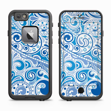 Blue Paisley Print Skin for the Apple iPhone LifeProof Fre Case