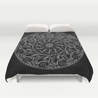 Invert swirl mandala Duvet Cover by Hedehede