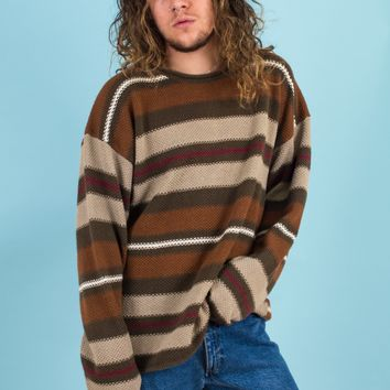 Striped Sweater with Rolled Neck