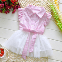 Girls Pink Rustic Summer Dress