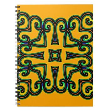 Decorative Spiral Notebook